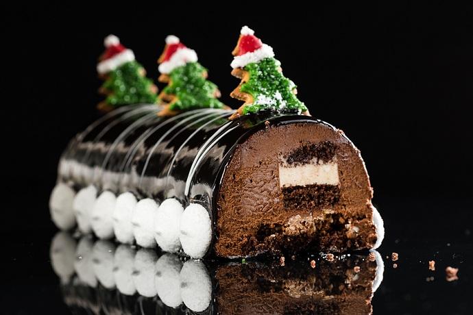 Chrismtas chocolate yule log