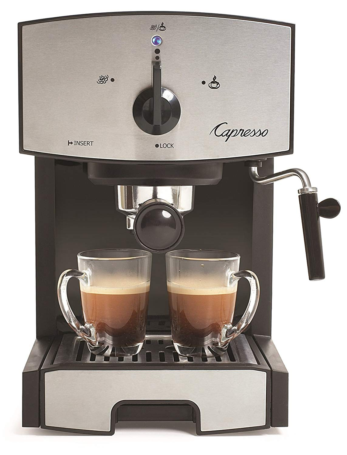 Capresso 117.05 Stainless Steel Pump Espresso and Cappuccino Machine EC50