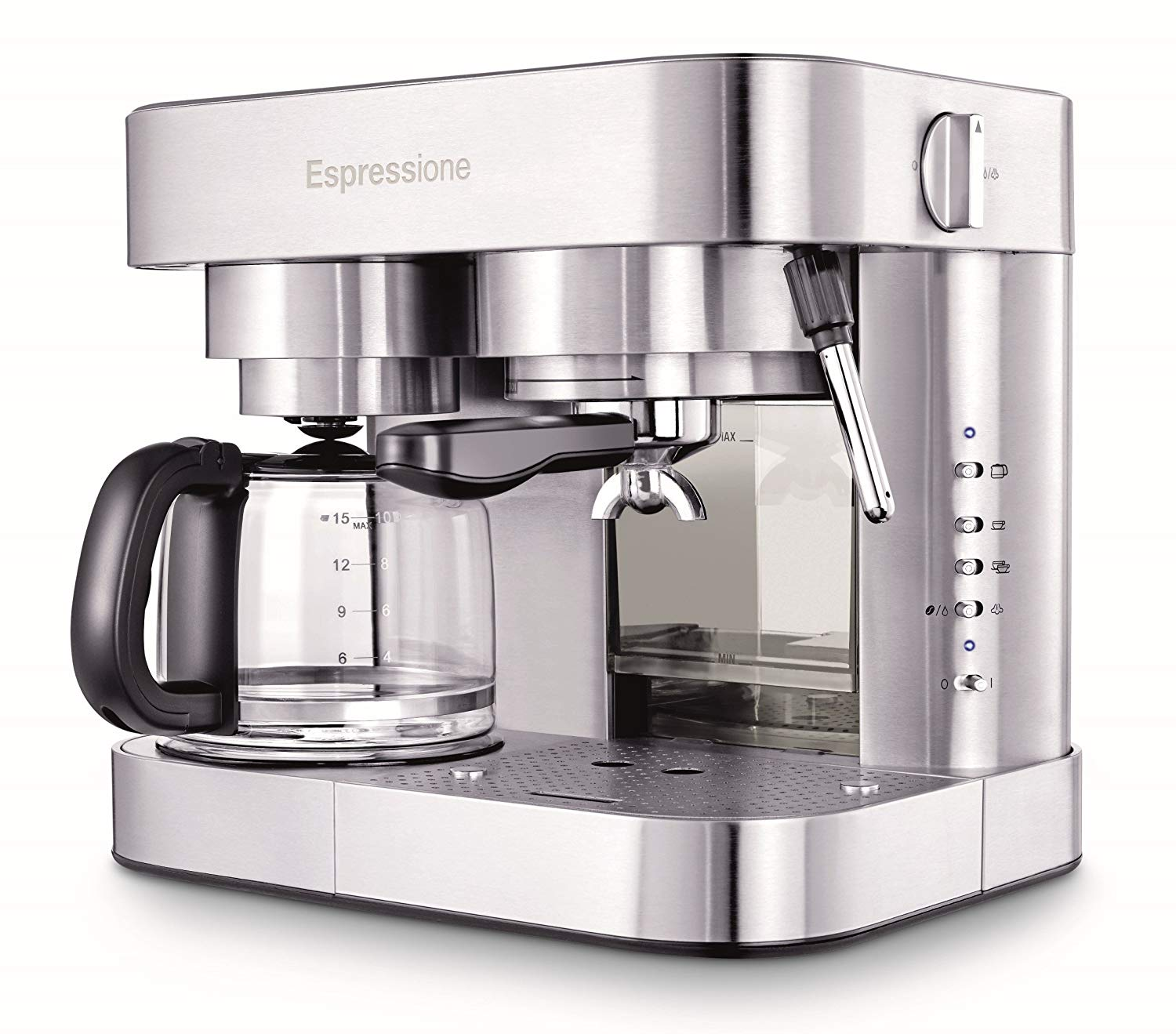 Espressione EM-1040 Stainless Steel Machine Espresso and Coffee Maker