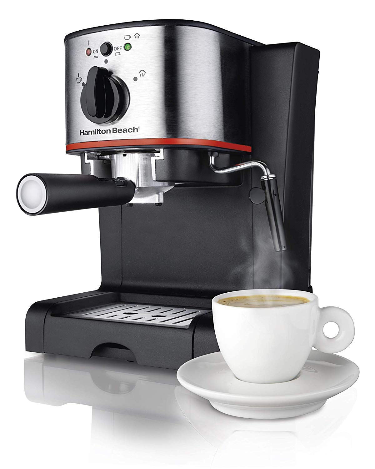 Hamilton Beach Espresso, Latte and Cappuccino Machine with Milk Frother