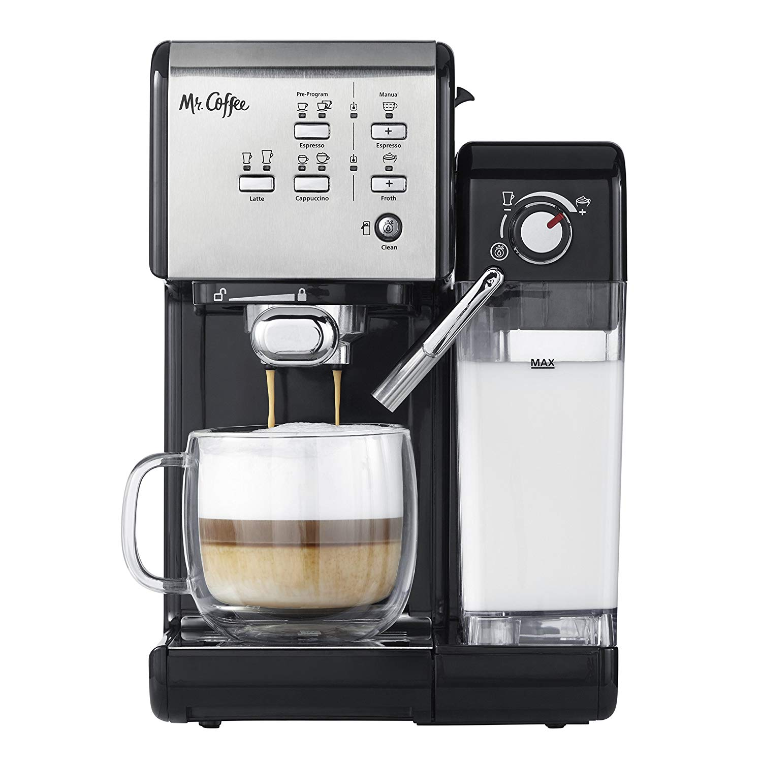 Mr. Coffee One-Touch Coffee House Espresso Maker and Cappuccino Machine