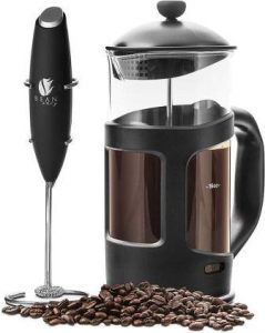 French Press Coffee Maker and Milk Frother Review