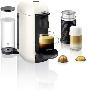 Nespresso VertuoPlus White Coffee and Espresso Machine Bundle