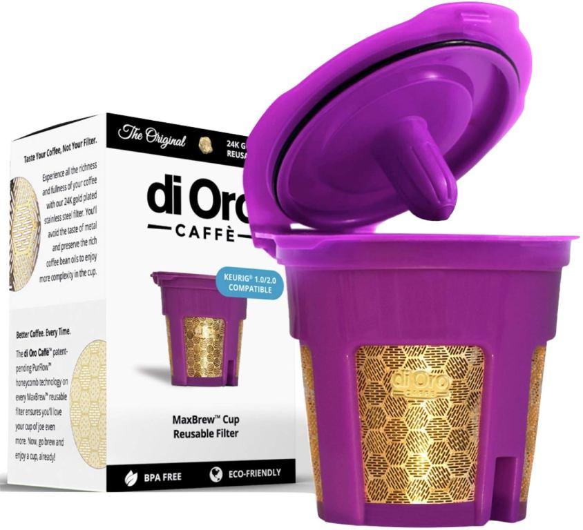 DI ORO - MaxBrew 24K GOLD Reusable Coffee Filter Review