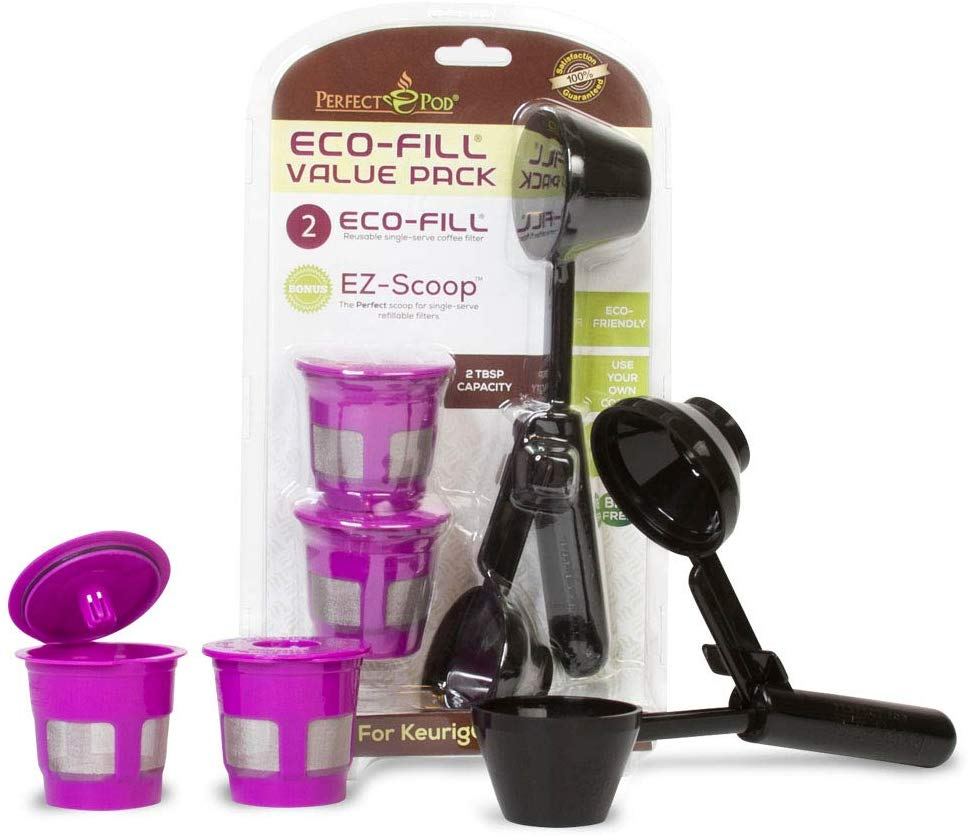 Perfect Pod ECO-Fill Reusable Coffee Filters and Coffee Scoop Review