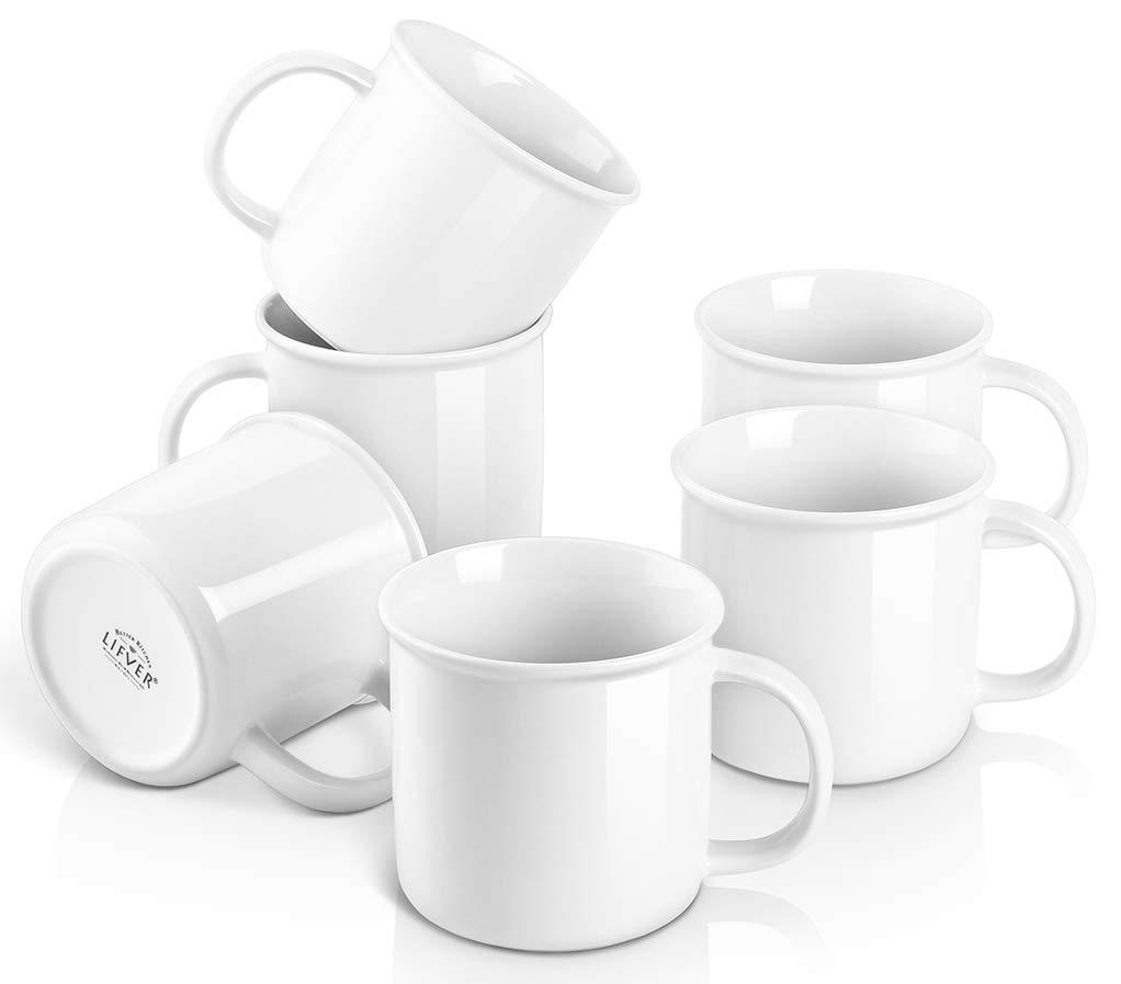 LIFVER Porcelain Housewarming Coffee Mugs Review