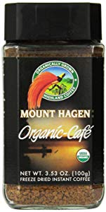 Image of a jar of Mount Hagens coffee, listed as one of the best instant coffees by Fourth Estate.